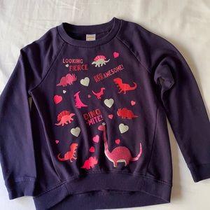 Gymboree: Girl Navy Dinosaur Sweatshirt M (7-8)